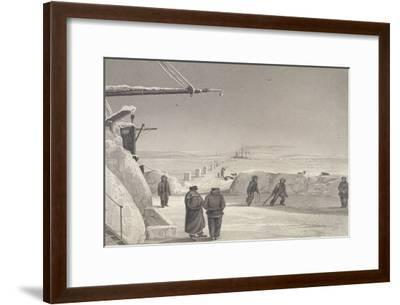 Situation of H.M. Ships Fury and Hecla at Igloolik-Captain George Francis Lyon-Framed Giclee Print