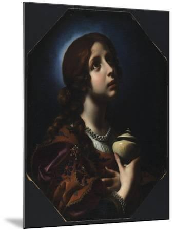 The Penitent Magdalene, C.1650-51-Carlo Dolci-Mounted Giclee Print