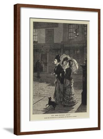 Our Good-Natured Cousin-Augustus Edward Mulready-Framed Giclee Print