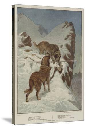 A Traveller, by the Faithful Hound-Basil Bradley-Stretched Canvas Print