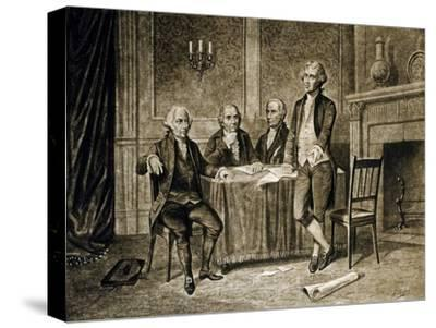 Leaders of the First Continental Congress, 1774, Published C.1894-Augustus Tholey-Stretched Canvas Print