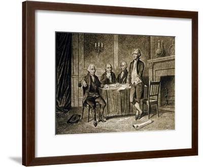 Leaders of the First Continental Congress, 1774, Published C.1894-Augustus Tholey-Framed Giclee Print