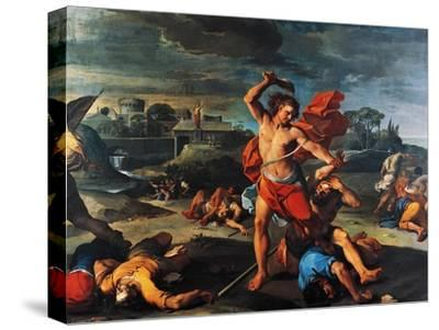Samson Slaying Philistines-Aureliano Milani-Stretched Canvas Print