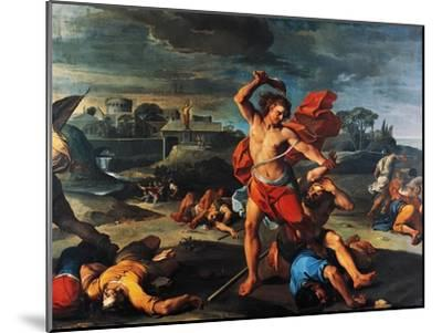 Samson Slaying Philistines-Aureliano Milani-Mounted Giclee Print