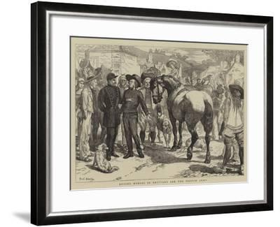 Buying Horses in Brittany for the French Army-Basil Bradley-Framed Giclee Print