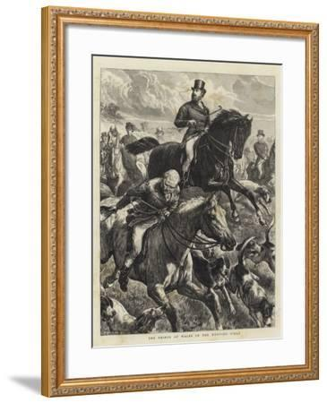 The Prince of Wales in the Hunting Field-Basil Bradley-Framed Giclee Print