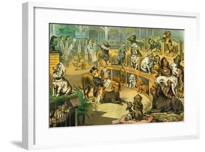Our National Dog-Show, 1883-Bernard Gillam-Framed Giclee Print