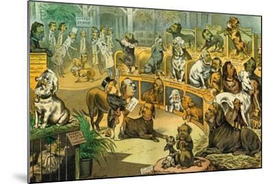 Our National Dog-Show, 1883-Bernard Gillam-Mounted Giclee Print