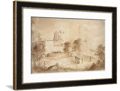 View of a Military Fortress-Camille Pissarro-Framed Giclee Print