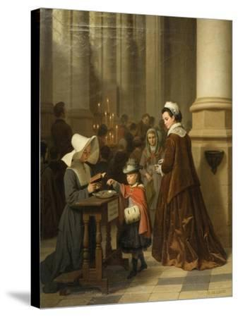 For the Sick Poor-Basile De Loose-Stretched Canvas Print