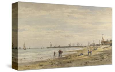 Ramsgate Pier, August 1838-Caroline Davidson-Stretched Canvas Print