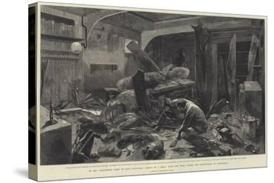 In the Commander's Cabin of HMS Alexandra-Charles Auguste Loye-Stretched Canvas Print