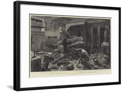 In the Commander's Cabin of HMS Alexandra-Charles Auguste Loye-Framed Giclee Print
