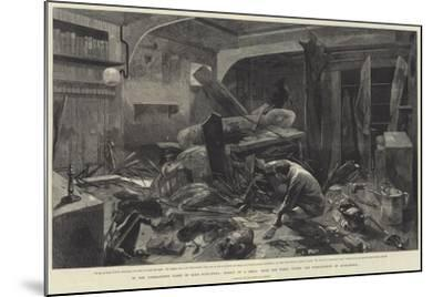 In the Commander's Cabin of HMS Alexandra-Charles Auguste Loye-Mounted Giclee Print