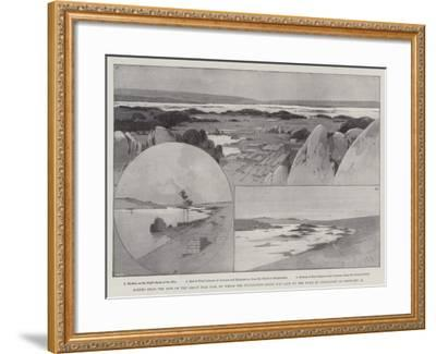 Scenes Near the Site of the Great Nile Dam-Charles Auguste Loye-Framed Giclee Print