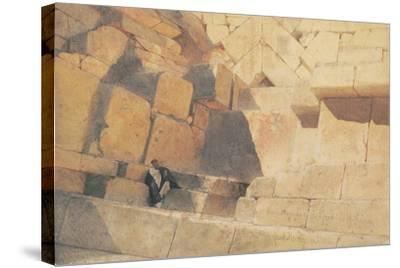 The Entrance to the Pyramid of Cheops, 1860-Carl Haag-Stretched Canvas Print