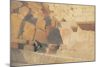 The Entrance to the Pyramid of Cheops, 1860-Carl Haag-Mounted Giclee Print