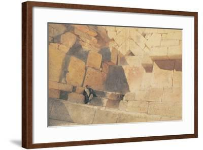 The Entrance to the Pyramid of Cheops, 1860-Carl Haag-Framed Giclee Print
