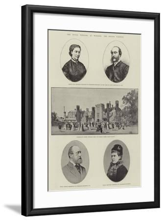 The Royal Wedding at Windsor, the Bride's Parents-Charles Auguste Loye-Framed Giclee Print