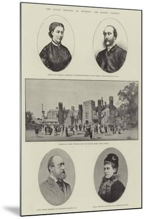 The Royal Wedding at Windsor, the Bride's Parents-Charles Auguste Loye-Mounted Giclee Print