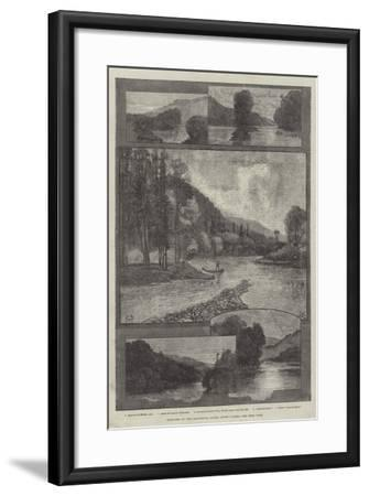 Sketches on the Cascapediac River, Lower Canada-Charles Auguste Loye-Framed Giclee Print