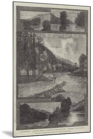 Sketches on the Cascapediac River, Lower Canada-Charles Auguste Loye-Mounted Giclee Print