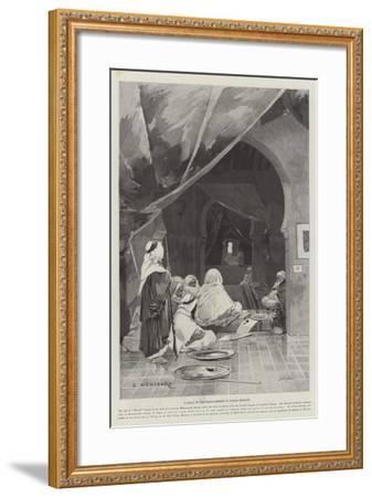 A Divan of the Grand Shereef of Wazan, Morocco-Charles Auguste Loye-Framed Giclee Print