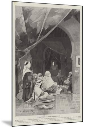 A Divan of the Grand Shereef of Wazan, Morocco-Charles Auguste Loye-Mounted Giclee Print