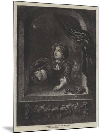 Blowing Bubbles-Caspar Netscher-Mounted Giclee Print
