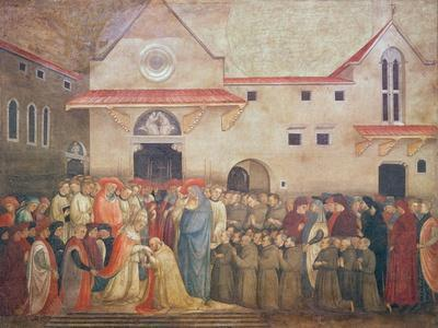 Consecration of the New Church of St. Egidio by Pope Martin V, September 1420, 1430S-Bicci di Lorenzo-Framed Giclee Print