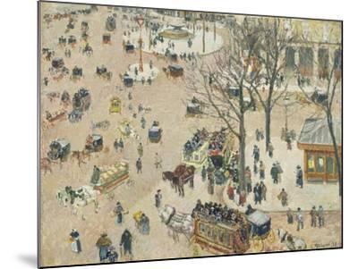 La Place Du Théâtre Français, 1898-Camille Pissarro-Mounted Giclee Print