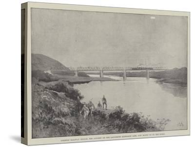 Colenso Railway Bridge, the Longest on the Ladysmith Extension Line, Now Blown Up by the Boers-Charles Auguste Loye-Stretched Canvas Print