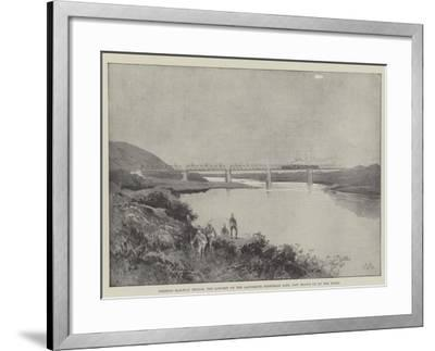 Colenso Railway Bridge, the Longest on the Ladysmith Extension Line, Now Blown Up by the Boers-Charles Auguste Loye-Framed Giclee Print