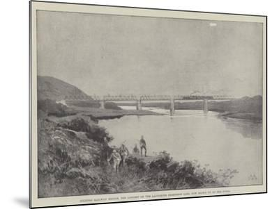 Colenso Railway Bridge, the Longest on the Ladysmith Extension Line, Now Blown Up by the Boers-Charles Auguste Loye-Mounted Giclee Print