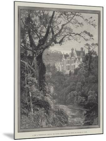 A Peep at Sandringham, Norfolk, the Country Residence of the Prince and Princess of Wales-Charles Auguste Loye-Mounted Giclee Print