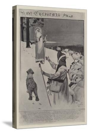 On Christmas-Cecil Aldin-Stretched Canvas Print