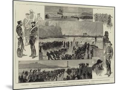 The Duke of Edinburgh Inspecting Naval Volunteers at Tynemouth, Shields, and Sunderland-Charles Auguste Loye-Mounted Giclee Print