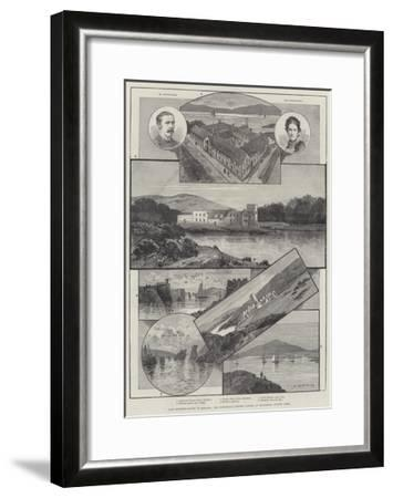 Lady Burdett-Coutts in Ireland, the Industrial Fishery School at Baltimore, County Cork-Charles Auguste Loye-Framed Giclee Print