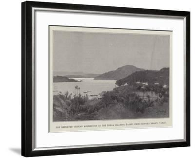 The Reported German Aggression in the Tonga Islands, Talau, from Olopeka Neiafu, Vavau-Charles Auguste Loye-Framed Giclee Print
