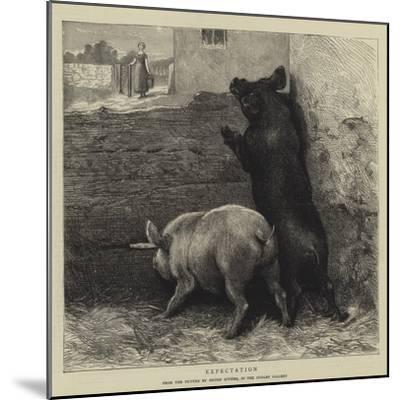 Expectation-Briton Riviere-Mounted Giclee Print