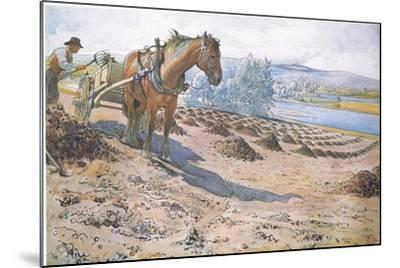 Muck Spreading on a Fallow Field-Carl Larsson-Mounted Giclee Print