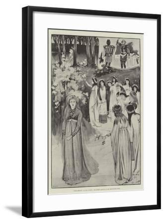 King Arthur, at the Lyceum, the Queen's Maying in the Whitethorn Wood-Cecil Aldin-Framed Giclee Print