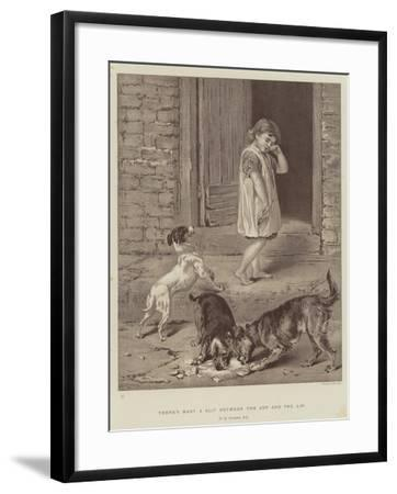 There's Many a Slip Between the Cup and the Lip-Briton Riviere-Framed Giclee Print