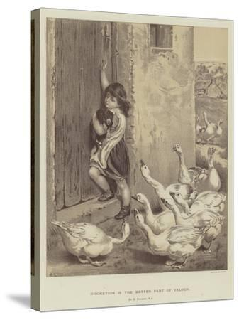 Discretion Is the Better Part of Valour-Briton Riviere-Stretched Canvas Print