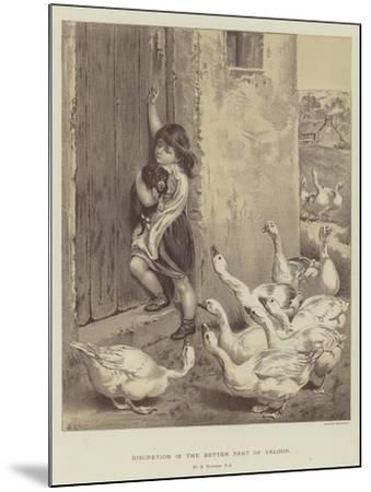 Discretion Is the Better Part of Valour-Briton Riviere-Mounted Giclee Print