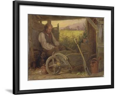 The Old Gardener, 1863-Briton Riviere-Framed Giclee Print