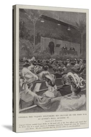 General Ben Viljoen Delivering His Lecture on the Boer War, at Queen's Hall, 16 October-Charles Auguste Loye-Stretched Canvas Print