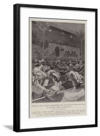 General Ben Viljoen Delivering His Lecture on the Boer War, at Queen's Hall, 16 October-Charles Auguste Loye-Framed Giclee Print