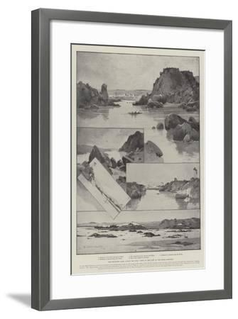 The Projected Dams across the Nile, Views of the Part of the River Affected-Charles Auguste Loye-Framed Giclee Print