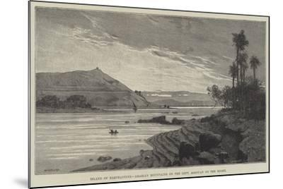 Island of Elephantine, Arabian Mountains on the Left, Assouan on the Right-Charles Auguste Loye-Mounted Giclee Print